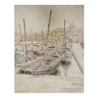 European Harbor, C. 1930s For Sale