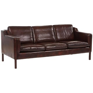 Børge Mogensen Leather Sofa For Sale