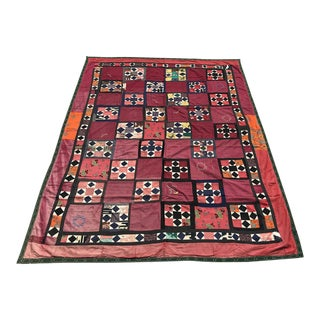 Antique Pale Pink Suzani Tapestry For Sale
