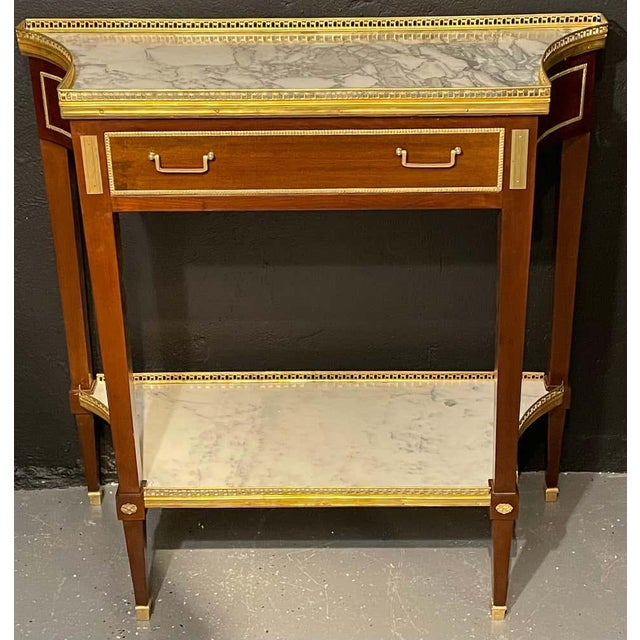 Russian Neoclassical Console Tables, Sofa Tables or Bedside Stands - a Pair For Sale - Image 11 of 12