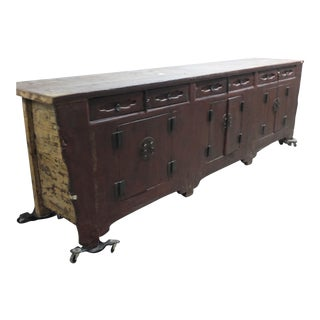 Long Chinese Antique Counter For Sale
