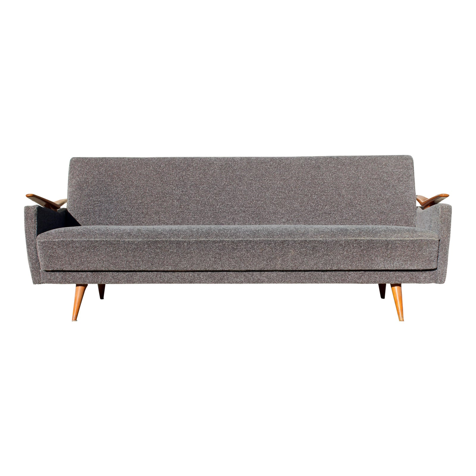 1960s Mid Century Modern Sculptural Reclining Sofa Daybed Danish