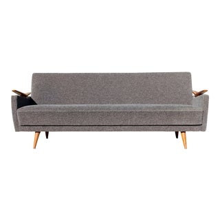 1960s Mid-Century Modern Sculptural Reclining Sofa Daybed Danish Hvidt Style For Sale