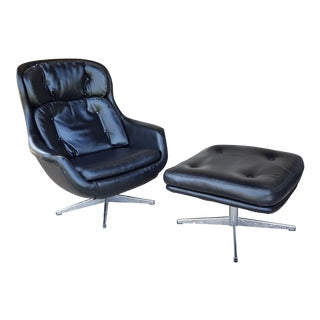 Selig Imperial Lounge Egg Chair & Ottoman For Sale