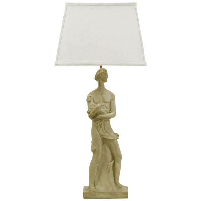 Egyptian Figure Table Lamp by Chapman For Sale