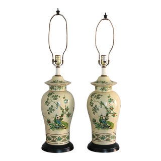 Mid Century Table Lamps - a Pair For Sale