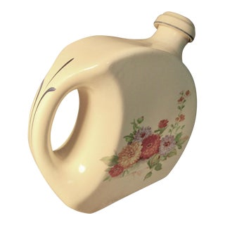 1930s Universal Cambridge Pottery Refrigerator Water Pitcher With Stopper For Sale