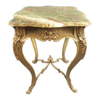 19th Century Louis XV Doré Bronze Gueridon Table For Sale