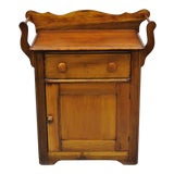 Image of 19th Century Country Pine Wood Washstand For Sale