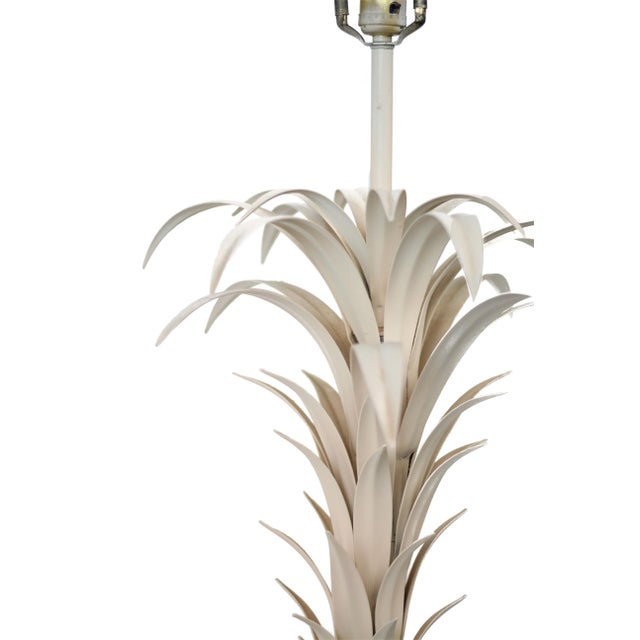 Large Tole Table Lamp with Rope Shade - Image 3 of 10