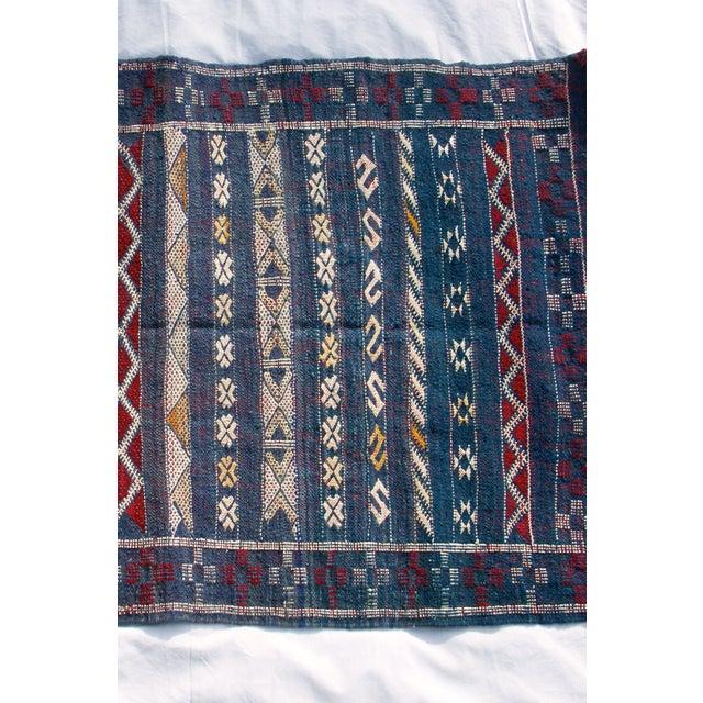 "Moroccan Berber Tribal Kilim Rug - 2' 7"" x 4' 2"" - Image 6 of 6"