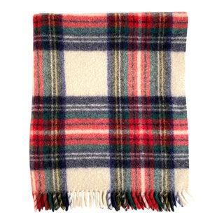Vintage Wool Plaid Throw