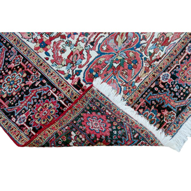"""Antique Persian Heriz Rug - 9' 11"""" by 13' 1"""" For Sale - Image 5 of 8"""