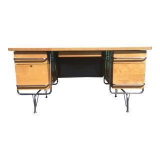 1970s Mid-Century Modern Kem Weber for Heywood Wakefield Tanker Desk For Sale