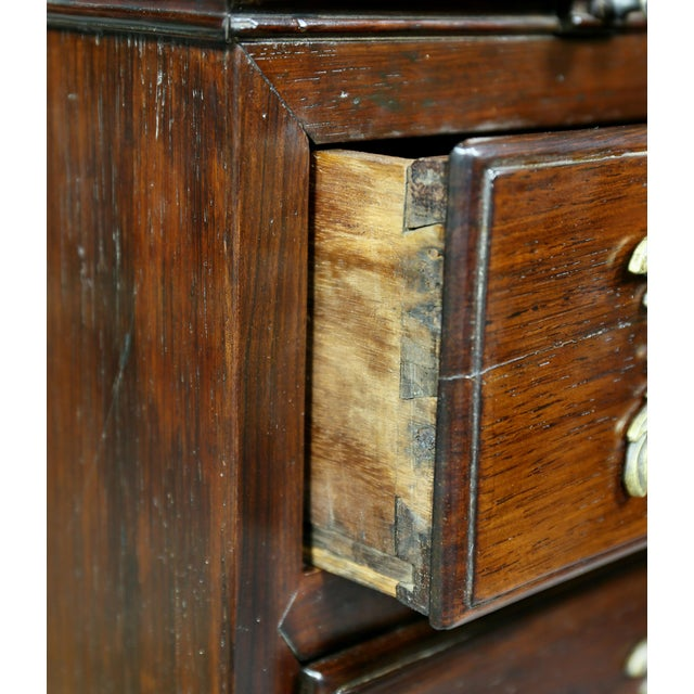 Brown Portuguese Colonial Brazilian Solid Rosewood Slant Lid Writing Desk For Sale - Image 8 of 13