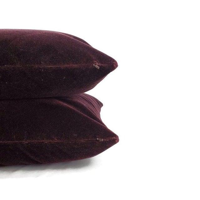"2010s Pollack Sedan Plush in Imperial Purple Pillow Cover - 20"" X 20"" Dark Purple Velvet Cushion Case For Sale - Image 5 of 7"