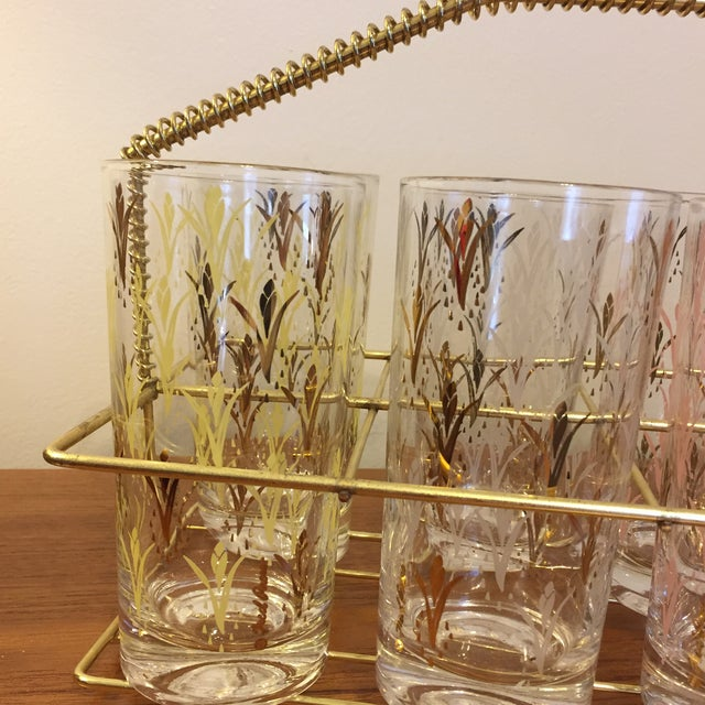 Fred Press Vintage Drink Caddy & Glasses For Sale - Image 5 of 8