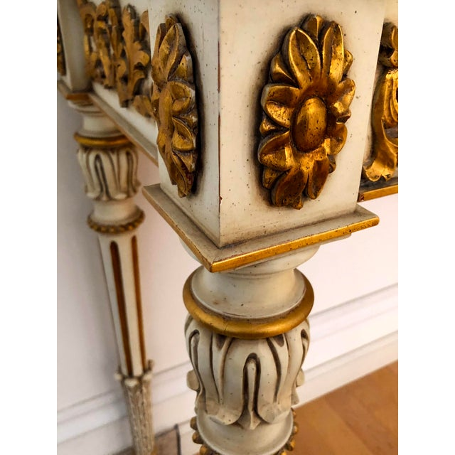 20th Century Vintage Karges Louis XVI Style Console Entry Table For Sale - Image 10 of 12