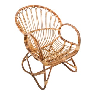Franco Albini Rattan Chair For Sale
