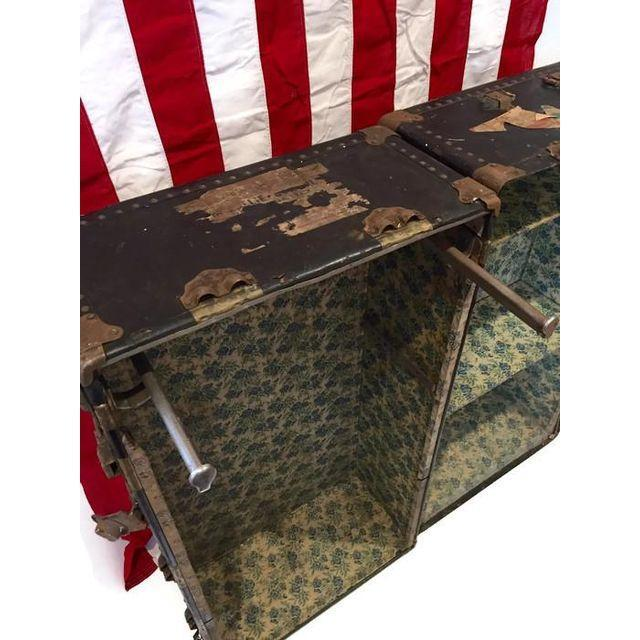 Vintage Steamer Trunk Bookcase Chest - Image 8 of 8