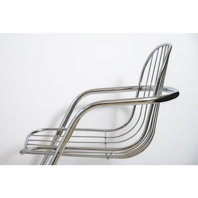 Italian Tubular Chrome Cantilever Chairs - Set of 4 For Sale - Image 9 of 10