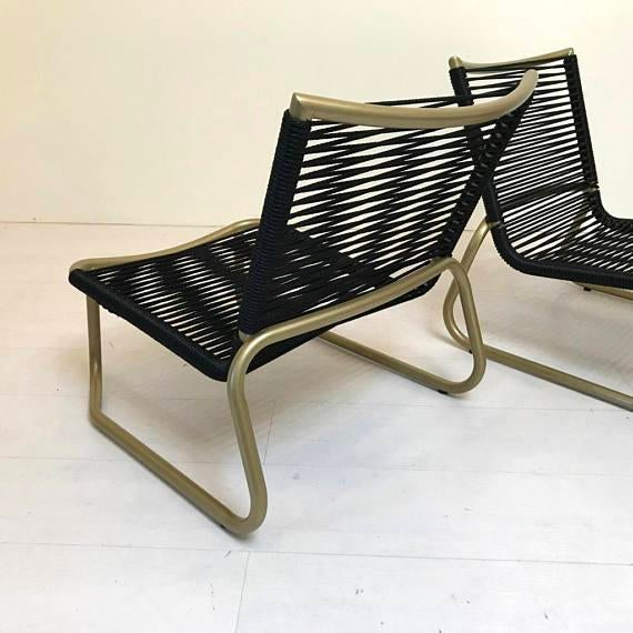 Tropitone Sand Chairs With Yacht Cording   A Pair   Image 4 Of 6