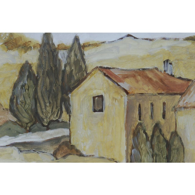 """Tuscan Landscape """"Via Orvieto"""" by C. Winterle Olson For Sale - Image 4 of 8"""