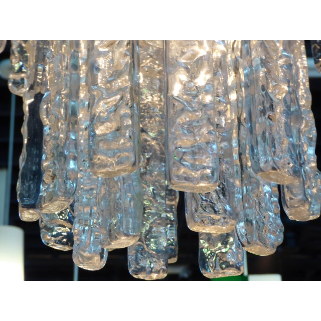 1960s 1960s Mid-Century Modern Mazzega Murano Textured Crystal Chandelier For Sale - Image 5 of 12