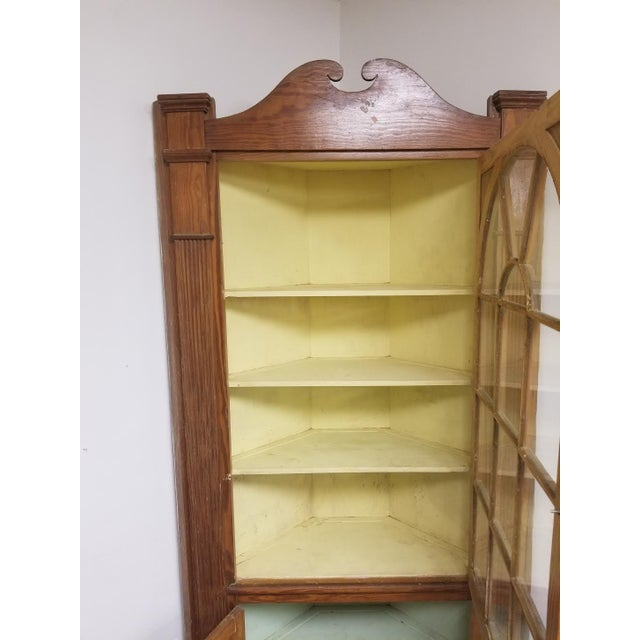 American Vintage Pine Corner Cabinet For Sale - Image 3 of 4