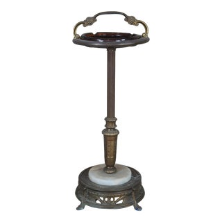 Art Deco Style Pedestal Smoking Stand Cigar Cigarette Floor Ashtray For Sale