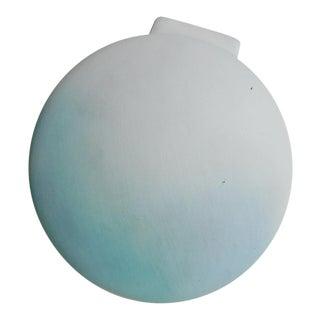 Modernist Blue and White Ceramic Vase For Sale