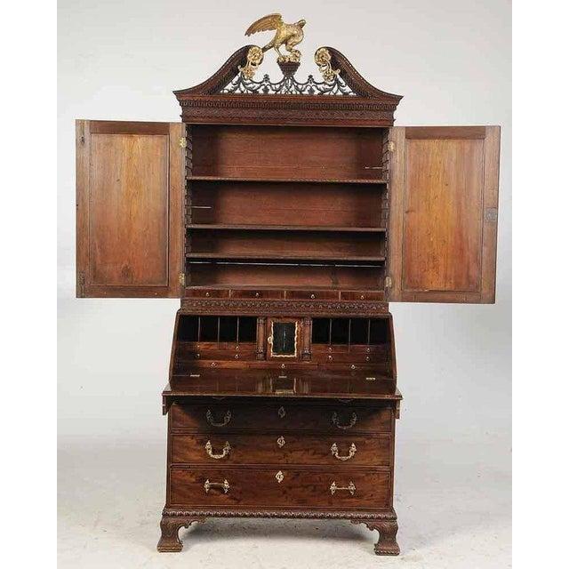 Period Chippendale Figured Mahogany Secretary Bookcase, circa 1765 For Sale In Boston - Image 6 of 8