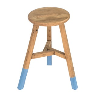 Sarreid Ltd Reclaimed Elm Round Stool For Sale