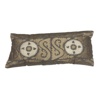 Vintage Wool Suzani Persian Embroidered Pillow