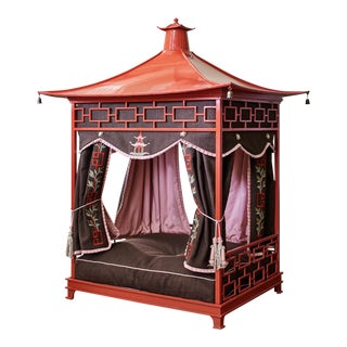 Red Pet Pagoda Bedframe For Sale