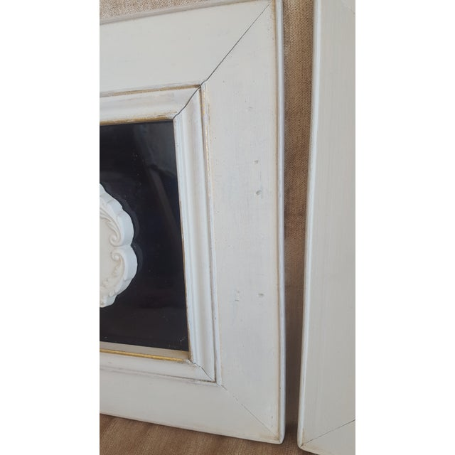 Vintage Neoclassical Framed Intaglios - a Pair For Sale - Image 10 of 13