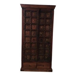 Antique Indian Door Armoire