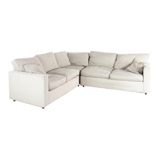Modern Room & Board Contemporary York Upholstered Sectional Sofa For Sale