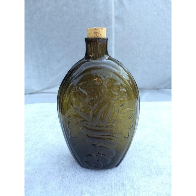 Green Glass Flask - Image 3 of 7