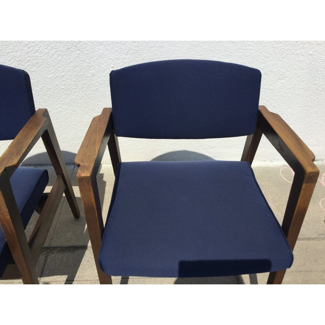 Vintage Navy Modern Chairs - Set of 4 - Image 11 of 11