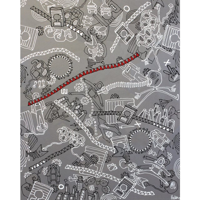 """Gray """"The Silver Rope"""" Original Artwork by R Hunt For Sale - Image 8 of 12"""