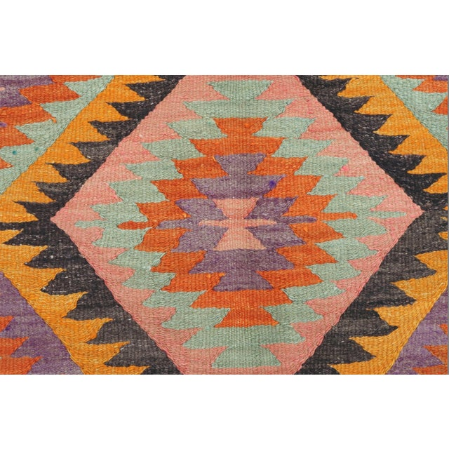 Textile Vintage Turkish Barak Nomad's Flat Weave Rug For Sale - Image 7 of 12