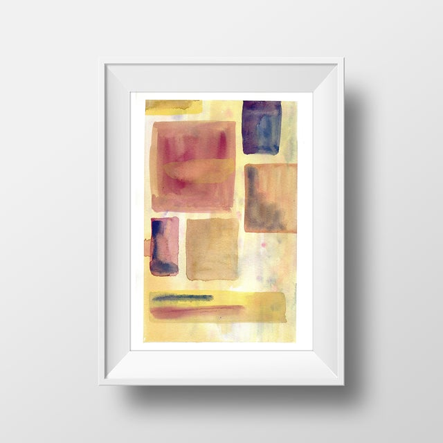 """""""Dusty Squares"""" Original Abstract Painting - Image 2 of 2"""