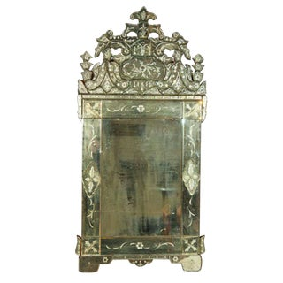 German Venetian Style Mirror For Sale