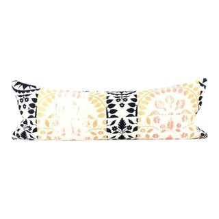 Multi Color Woven Large Lumbar Pillow