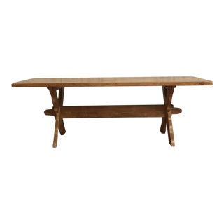 Vintage Danish Blond Oak Coffee Table
