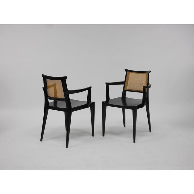Twelve Asian Dining Chairs by Edward Wormley for Dunbar For Sale In Boston - Image 6 of 11