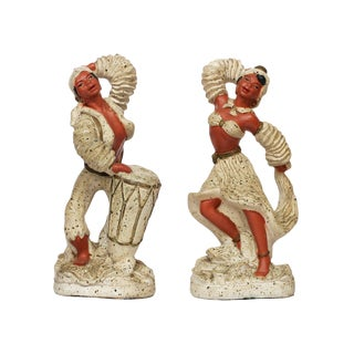 Pair of 1955 Cuban Chalk Ware Statue - 50th Anniversary Sale For Sale