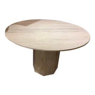Mid Century Travertine Dining Table For Sale