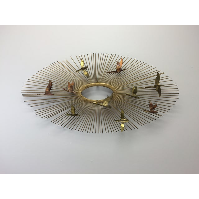 Curtis Jere Sunburst With Birds Wall Sculpture - Image 2 of 8